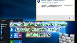 How to Enable Windows Defender in Windows 10 using Security Center | Definite Solutions