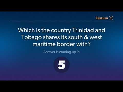Which is the country Trinidad and Tobago shares its south & west maritime border with?   Trinidad an