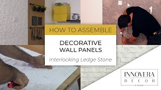 How to Install Wall Paneling - 3D Interlocking Decorative Panels By Innovera Décor