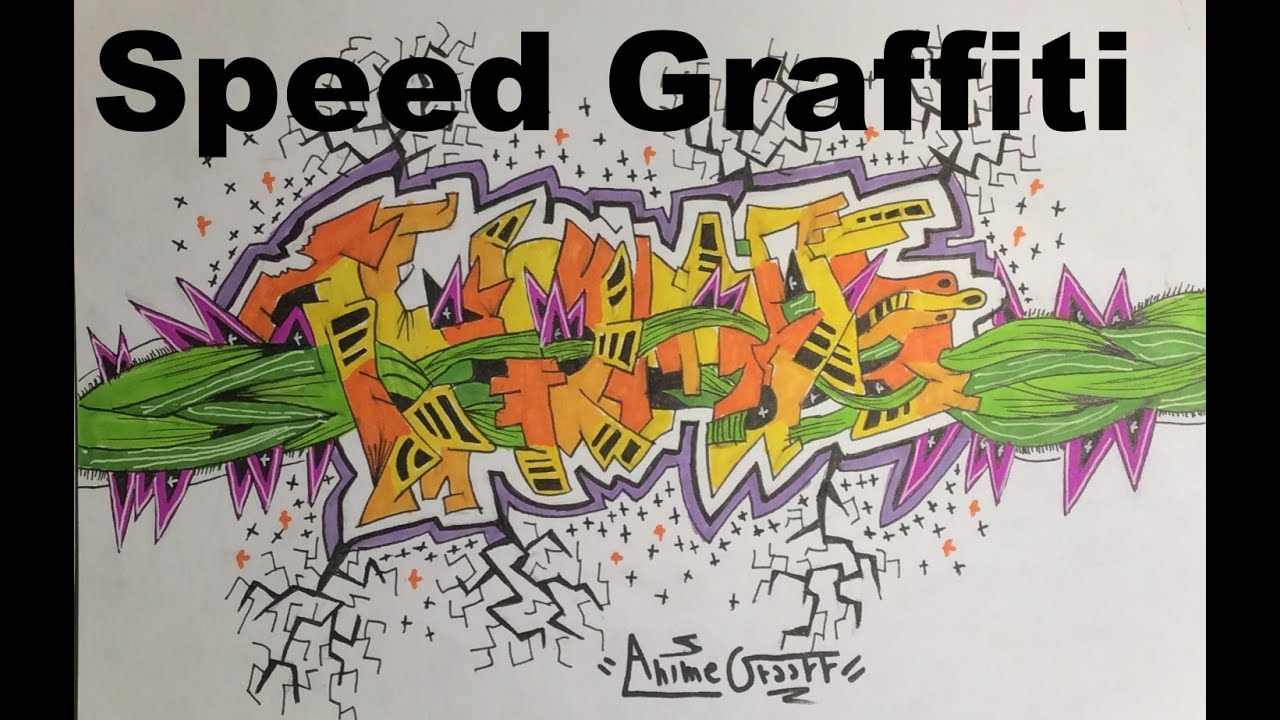 Speed graffiti by animegraff thomas vouge prenom en graff youtube - Graffiti prenom gratuit ...