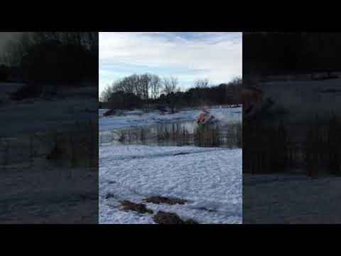 Sean Salisbury - FAIL VIDEO: Keep Your Snowmobile Off the Ice