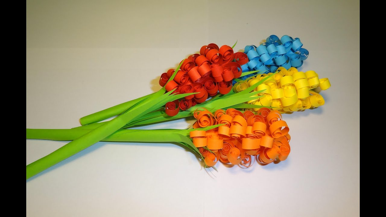 Quilling Kolorowe Kwiaty Z Papieru Youtube