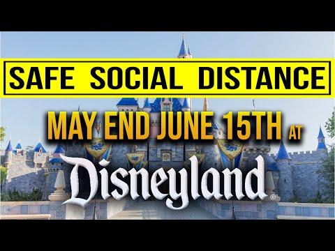 RUMOR: Social Distancing at Disneyland may end on June 15th