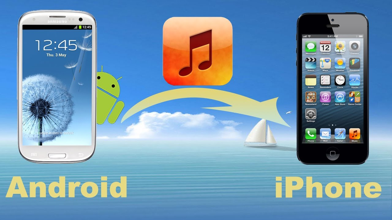 transfer iphone to android android to iphone transfer how to copy from 16291