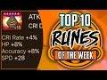 TOP 10 RUNES IN SUMMONERS WAR! | Week 1