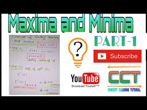 Basic concept of Maxima  Minima ||PART-1 || CCT|| Engineering Mathematics|| thumbnail
