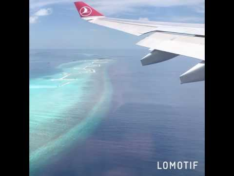 Turkish airlines... Male... Landing ✈️...