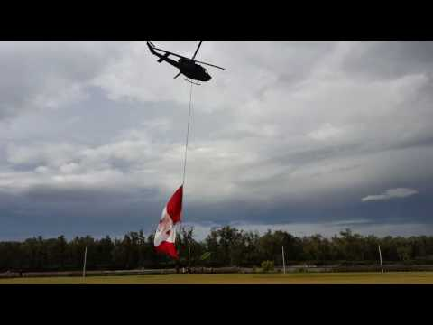 Canadian Forces chopper at the Calgary Stampede