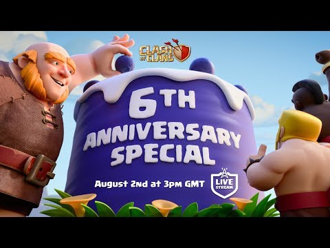 Clash of Clans - 6th Anniversary 5v5 Special Stream!