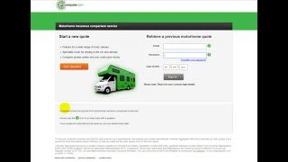 Compare motorhome insurance quotes from our panel of motorhome insurers