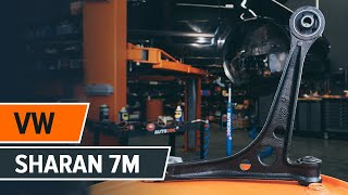 Cambio braccio anteriore inferiore VW SHARAN 7M TUTORIAL | AUTODOC