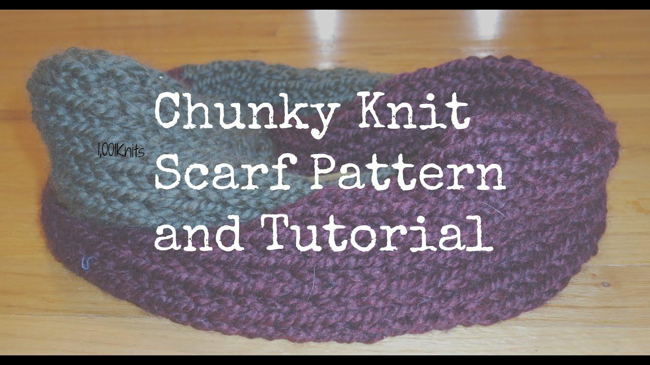 Chunky Knit Scarf Tutorial Youtube