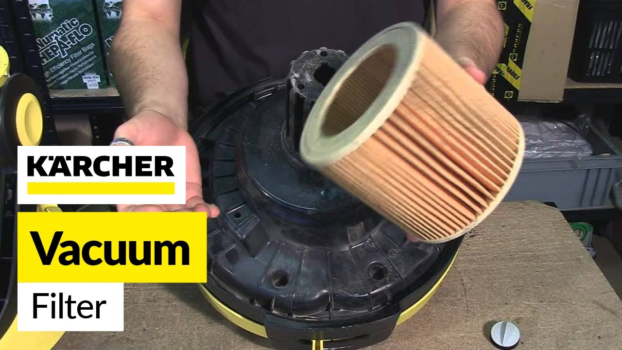 Populair How to change a cartridge filter on a vacuum- Karcher - YouTube UY66