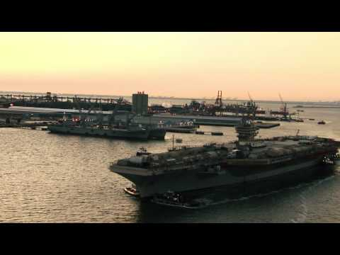 USS Abraham Lincoln (CVN 72) Arrives at Newport News Shipbuilding