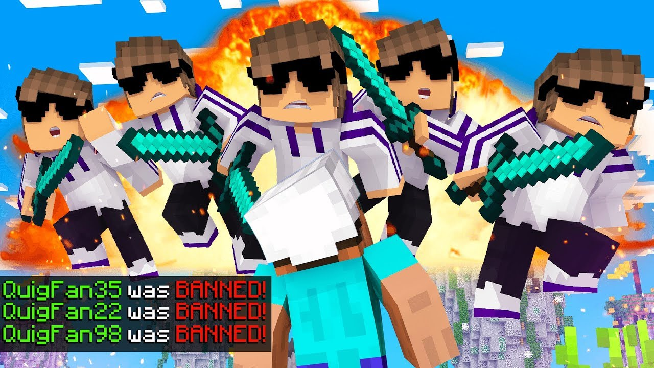 I RAIDED YOUTUBERS Minecraft Servers with 12 FANS And We Got BANNED!