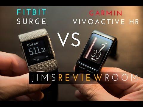 Garmin VivoActive HR VS Fitbit Surge - Comparison Video