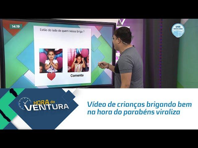 Vídeo de crianças brigando bem na hora do parabéns viraliza na web
