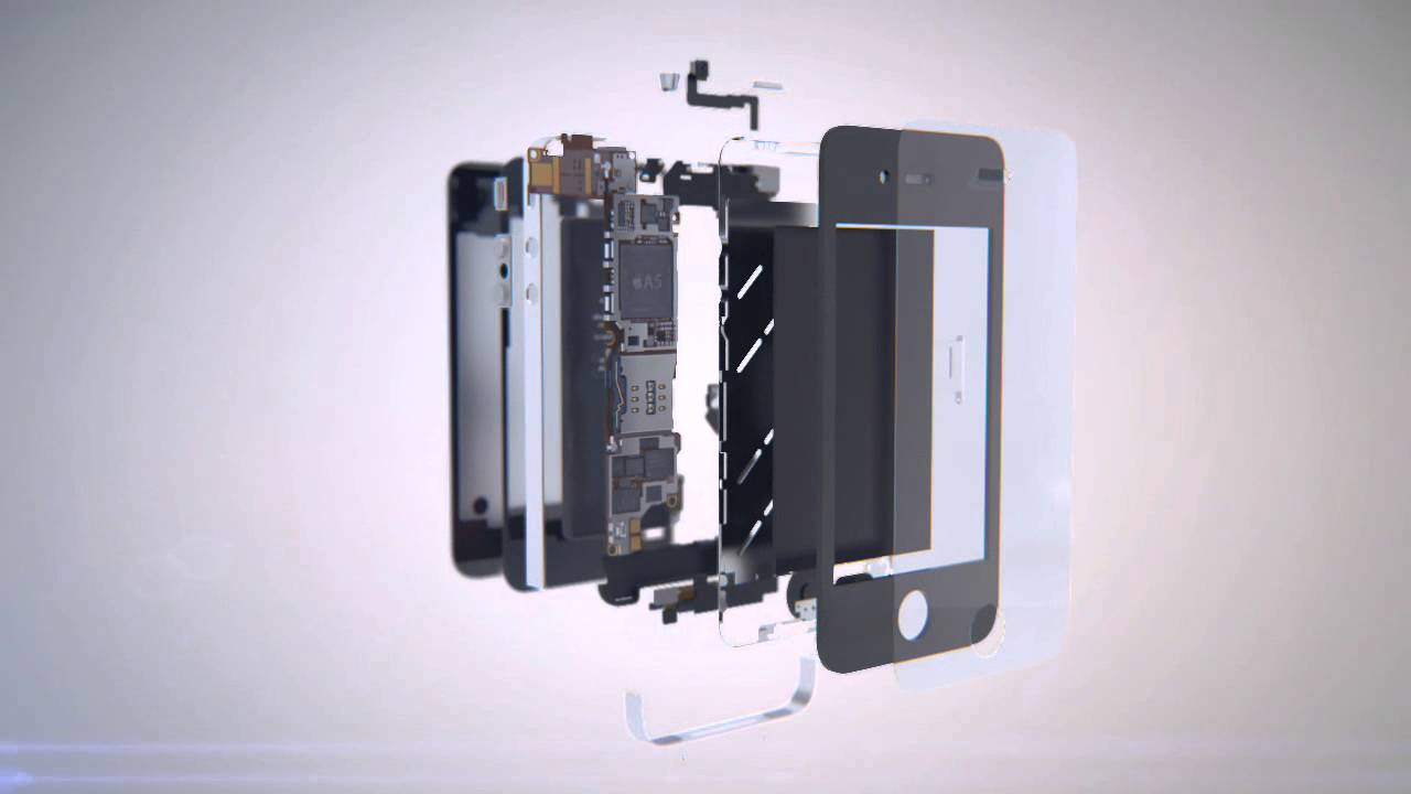 Iphone 3D Animated Product Visualization.