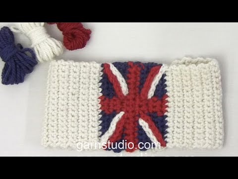 "How to crochet the stripes for ""Union Jack"""