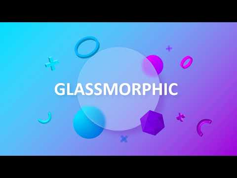 Glassmorphism Blue Violet PowerPoint Template Preview