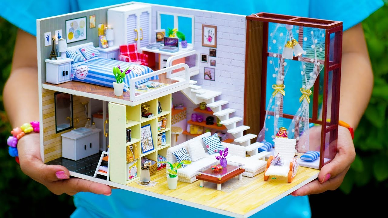 5 Diy Miniature Doll House Rooms New Youtube