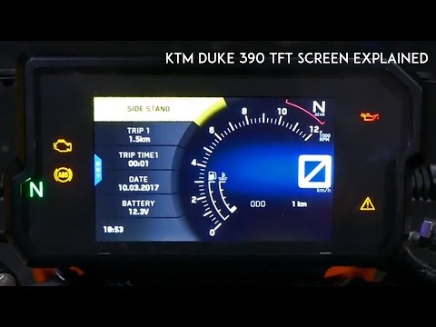 2017 KTM Duke 390 TFT Screen Console | All you Need to Know | RWR