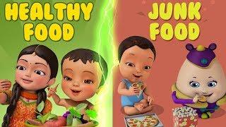 স্বাস্থ্যকর খাবার খাও - Eat Healthy   Bengali Rhymes for Children   Infobells