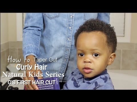 Curly Hairstyle For Toddler : How to taper cut curly hair natural care for children