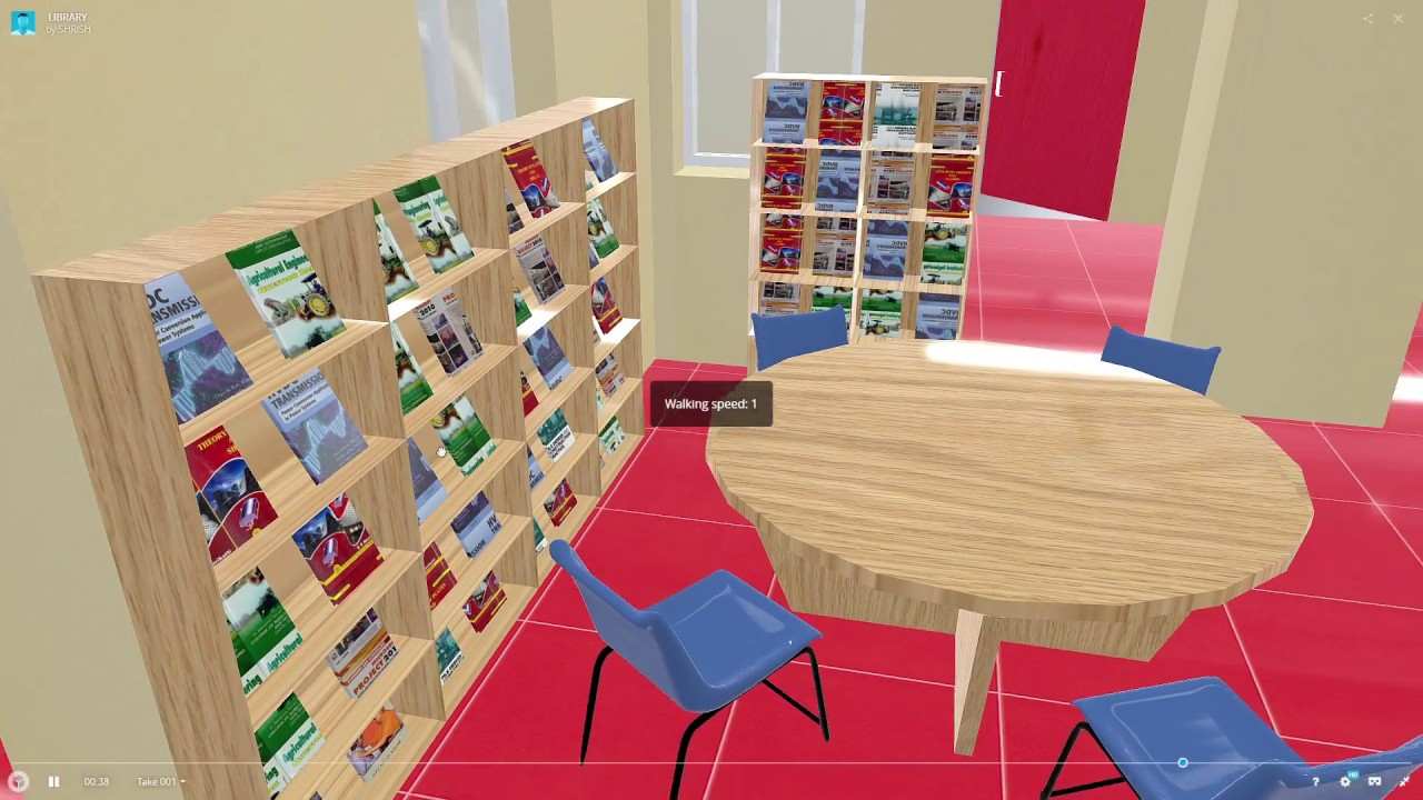 3d model of a library youtube for Make a 3d room