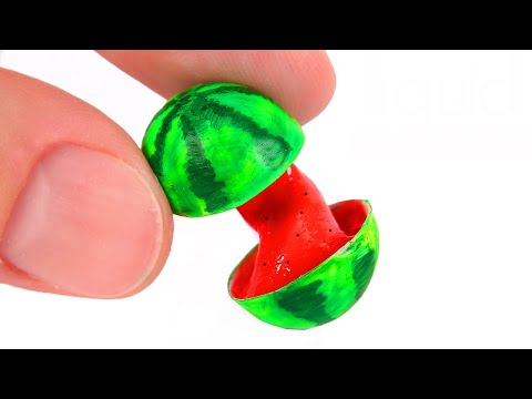 DIY Miniature Liquid Watermelon with SLIME