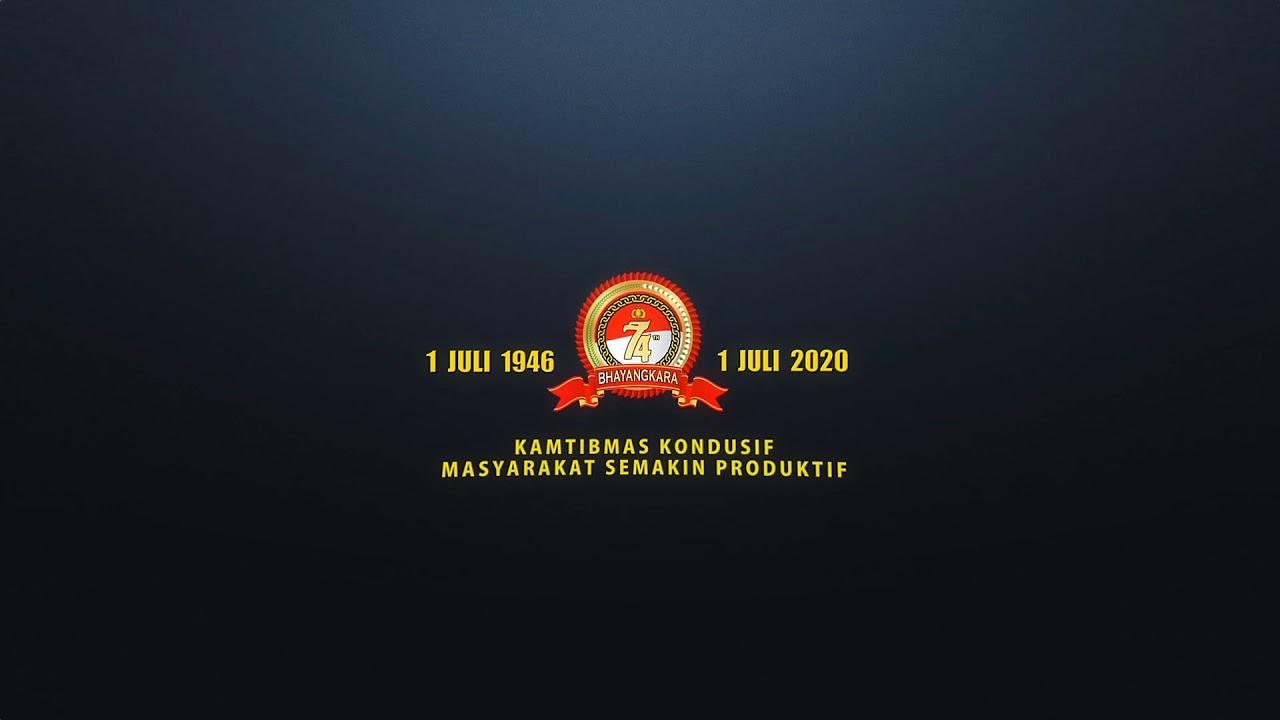 LOGO DAN TEMA HUT POLRI KE 74 TAHUN 2020   5 VIDEO INTRO