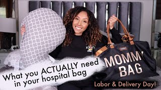 What you ACTUALLY nęed in your hospital bag! Labor & Delivery Day!