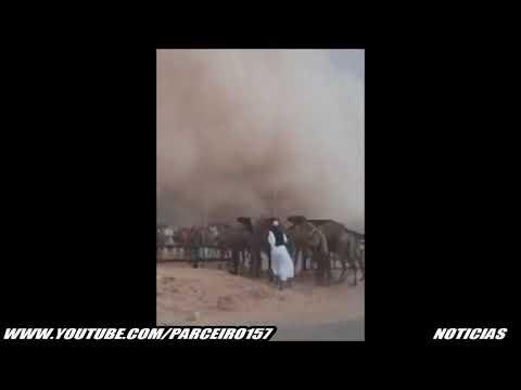 TEMPESTADE DE AREIA FAZ DIA VIRAR NOITE NA ARABIA SAUDITA E KUWAIT - YouTube