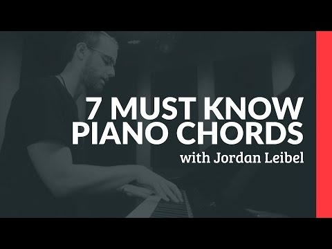 7 Chords Every Piano Player Must Know - Piano Lesson (Pianote)