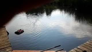 Кораблик Eagle Finder з ехолотом і GPS (бордовий)