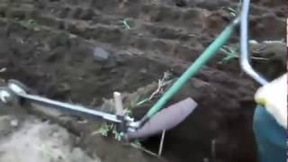 Вспашка земли электроплугом (электролебедкой) ЛС-100(Практическое применение электролебедки ЛС-100А завода