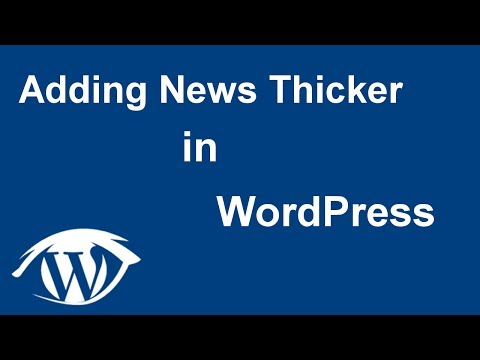How to add a News Ticker in WordPress (2017 tutorial)