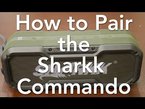 How To Pair The Sharkk Commando Bluetooth Speaker