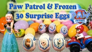 PAW PATROL & FROZEN Surprise Eggs with Peppa Pig Julius JR Surprise Toy Paw Patrol Video Video