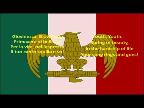 Giovinezza english lyrics