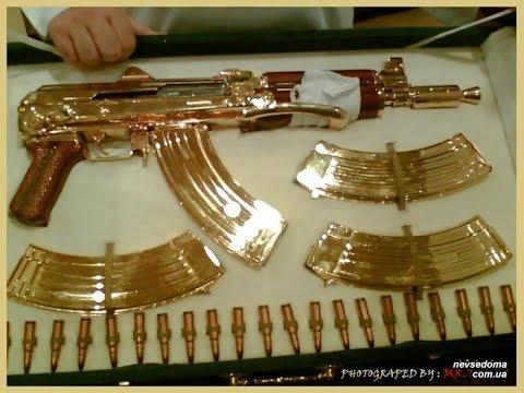 AK 47 FULL 24 KARAT GOLD IN DUBAI!!