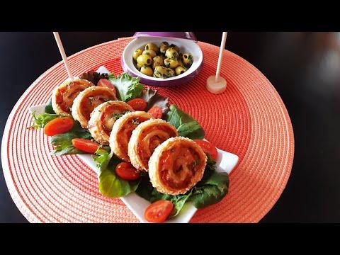roulés-de-pâte-feuilletée-au-thon-et-poivrons,-salés-ramadan-2019