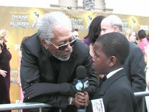 Damon Weaver & Jalyn Mitchell Interview Morgan Freeman at the 2010 NAACP Image Awards