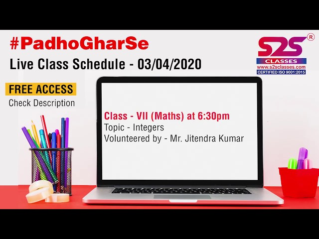Class 7 - Ch 1 - Mathematics - Integers (Part 1)