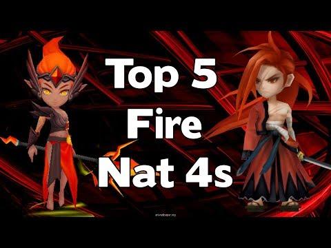 Summoners War - Top 5 Fire Nat 4s - Best Fire Natural 4 Star Monsters