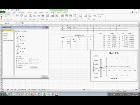 Adding Vertical Error Bars to Scatter Plot