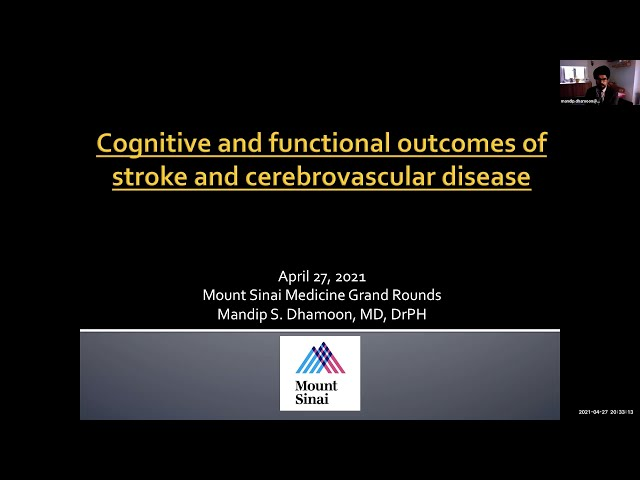 Cognitive and Functional Outcomes of Stroke and Cerebrovascular Disease