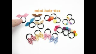 DIY Miniature Doll Mini Hair Ties Band - Very Easy!