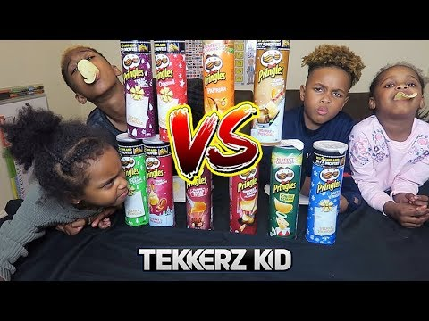 TEAM PRINGLES CHALLENGE! *NEW ROTTEN FISH FLAVOUR??