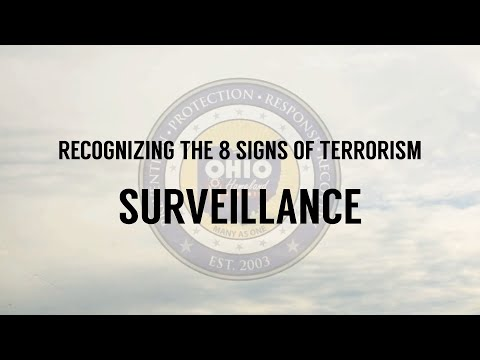 Recognizing the 8 Signs of Terrorism: Surveillance